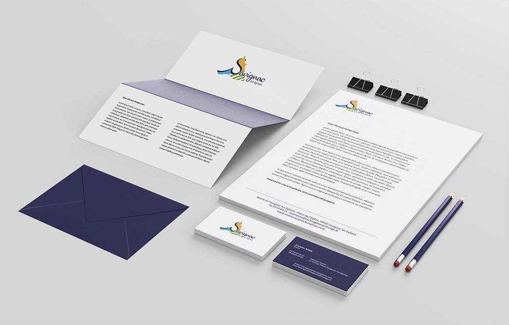 Charte graphique de la commune : les supports imprimés