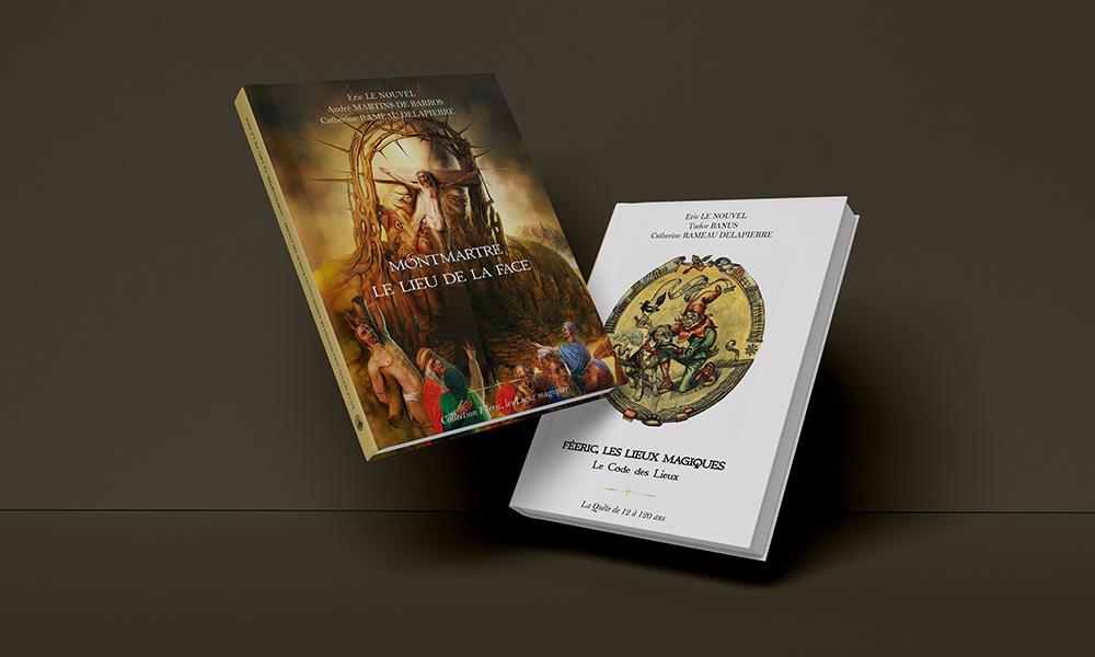 """Guides iniatiques en deux volumes : """"Féeric les lieux magiques"""" et """"Montmartre le lieu de la face"""""""